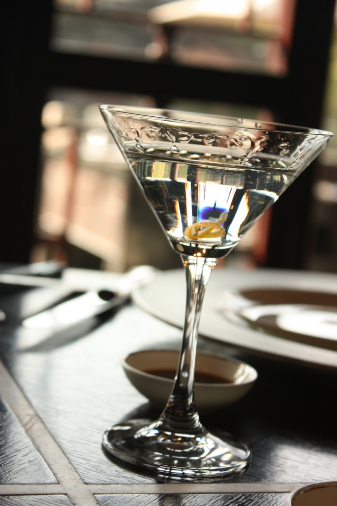 A perfectly made Vesper Martini at the Four Seasons Hangzhou