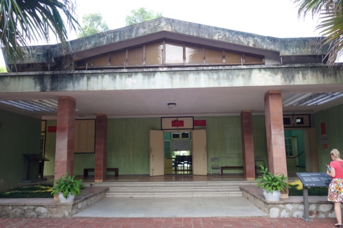 The historic Building D67, at the Hanoi Imperial Citadel, Vietnam