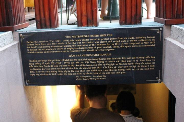 Entrance to the Vietnam war underground bunker in Hanoi's Softitel Legend Metropole Hotel